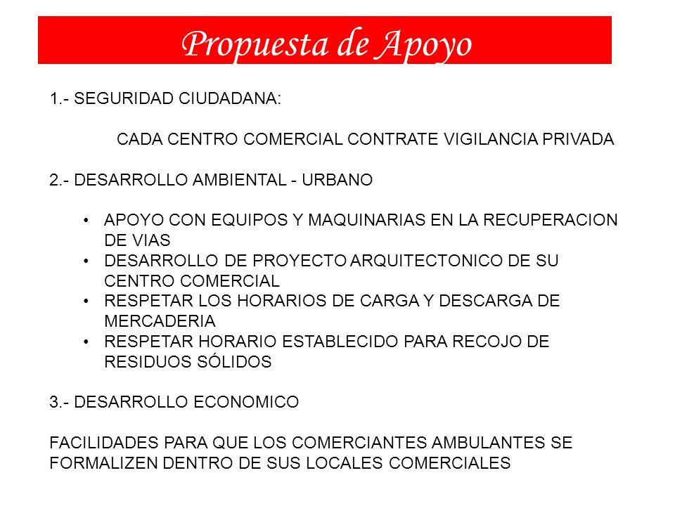 Propuesta de Apoyo 1.- SEGURIDAD CIUDADANA: