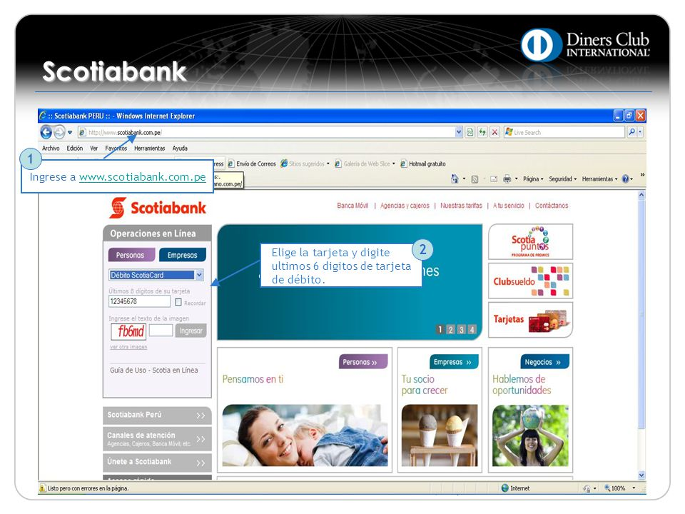 Scotiabank 1 2 Ingrese a www.scotiabank.com.pe