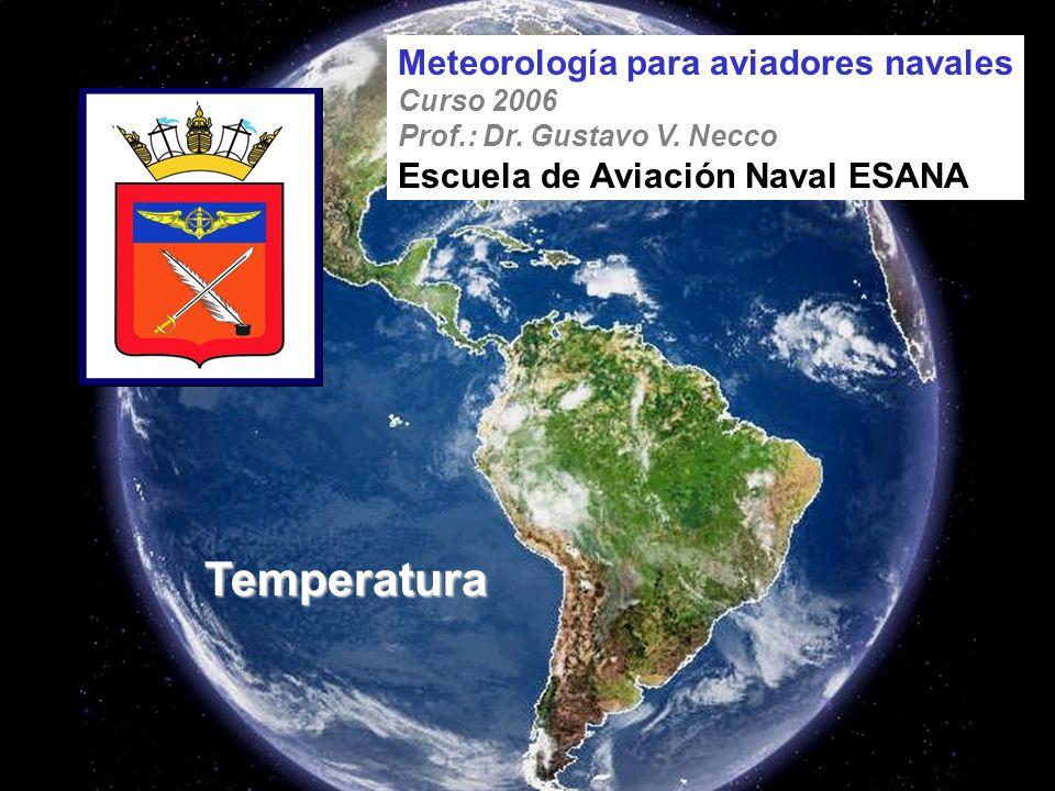 Temperatura Meteorología para aviadores navales