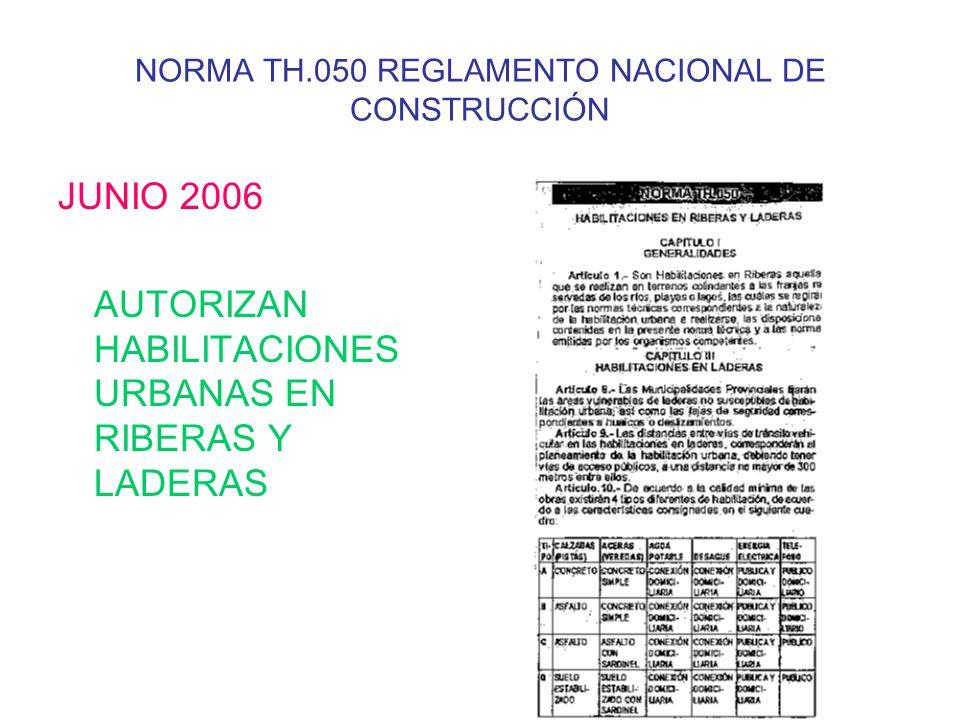 NORMA TH.050 REGLAMENTO NACIONAL DE CONSTRUCCIÓN