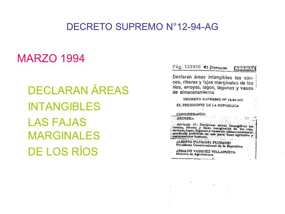 DECRETO SUPREMO N°12-94-AG