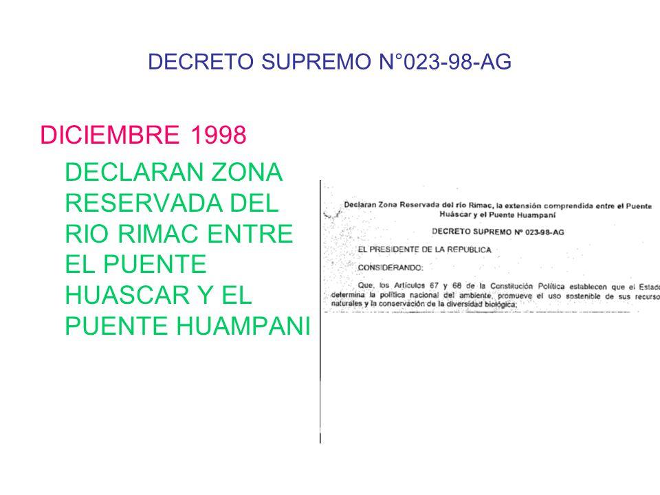DECRETO SUPREMO N°023-98-AG