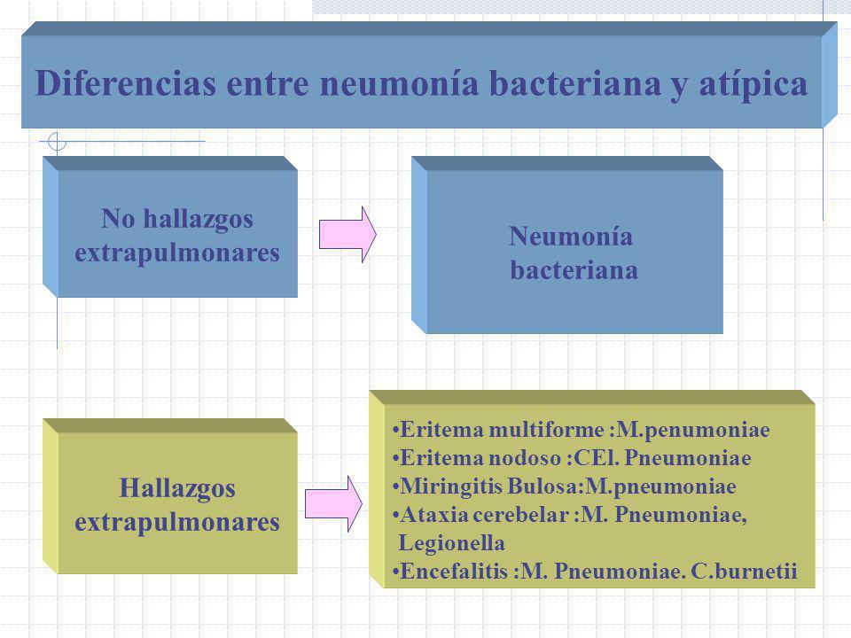 Diferencias entre neumonía bacteriana y atípica