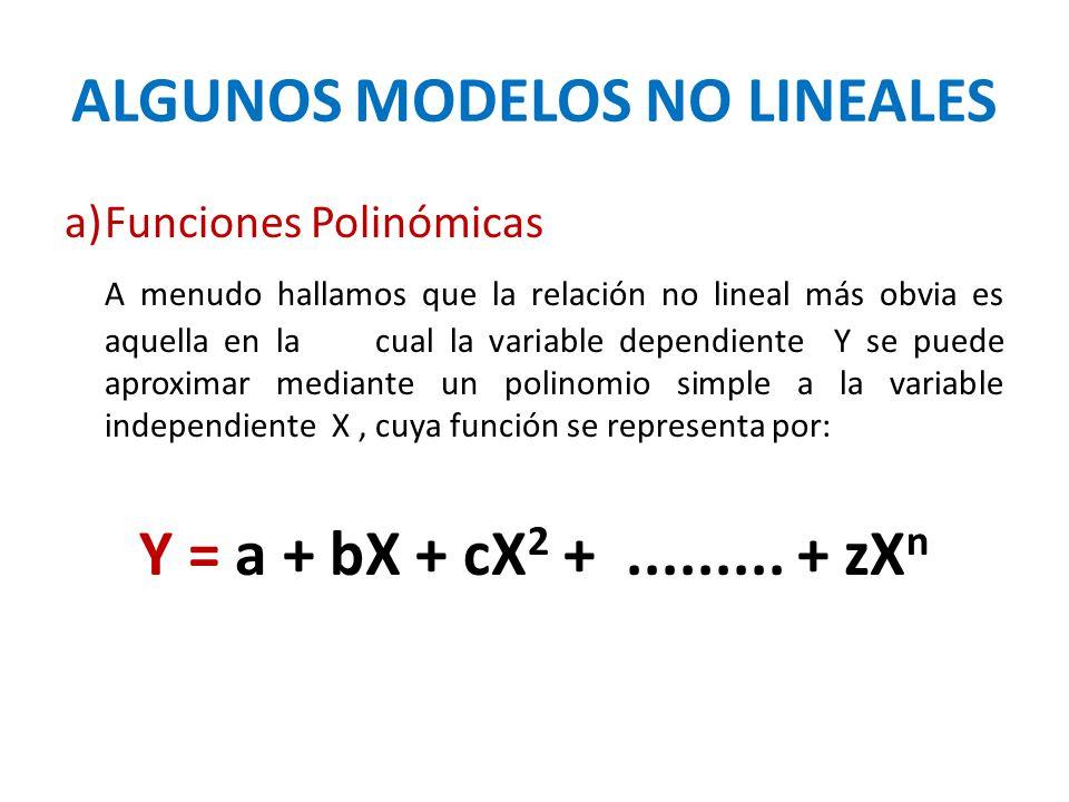 ALGUNOS MODELOS NO LINEALES