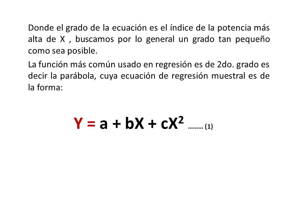 Donde el grado de la ecuación es el índice de la potencia más alta de X , buscamos por lo general un grado tan pequeño como sea posible.