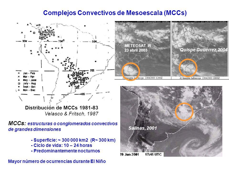 Complejos Convectivos de Mesoescala (MCCs)