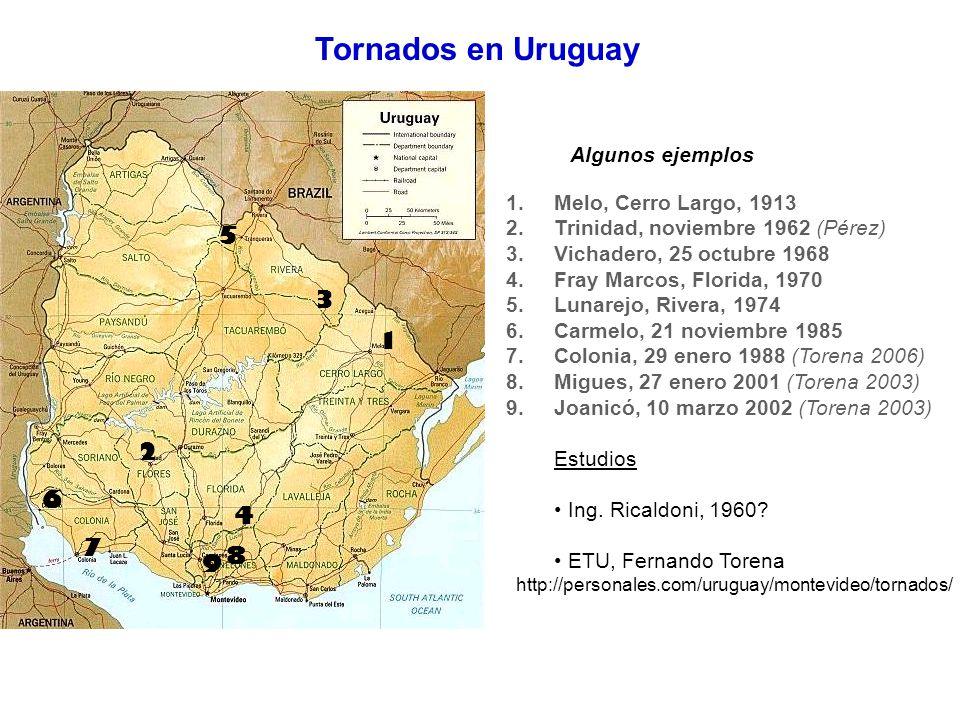 Tornados en Uruguay 5 3 1 2 6 4 7 8 9 Algunos ejemplos
