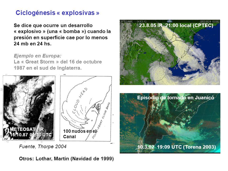 Ciclogénesis « explosivas »