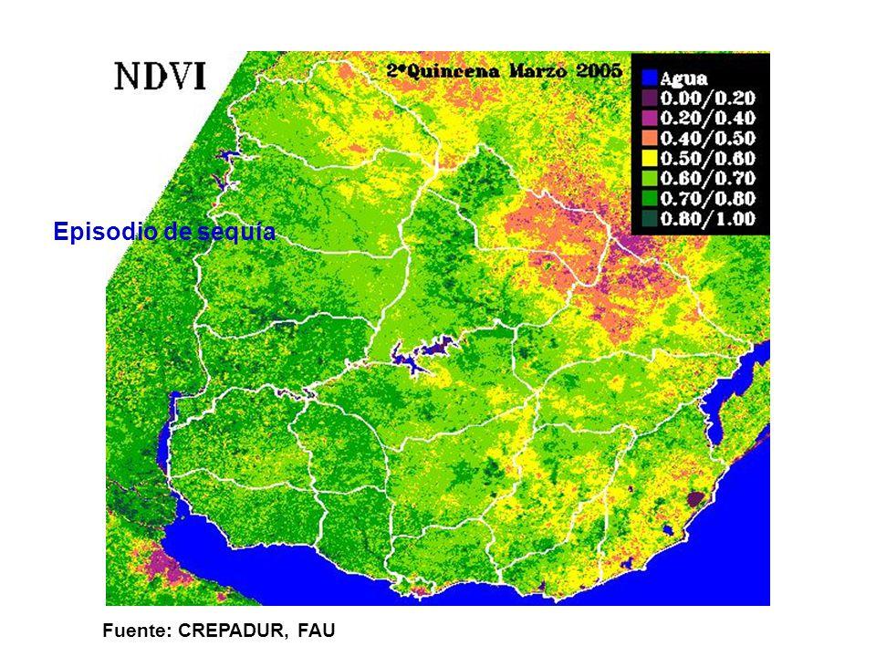 Episodio de sequía Fuente: CREPADUR, FAU