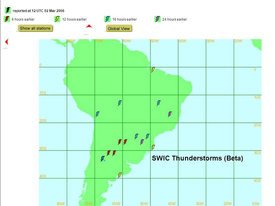 SWIC Thunderstorms (Beta) Thunderstorms (Beta version)