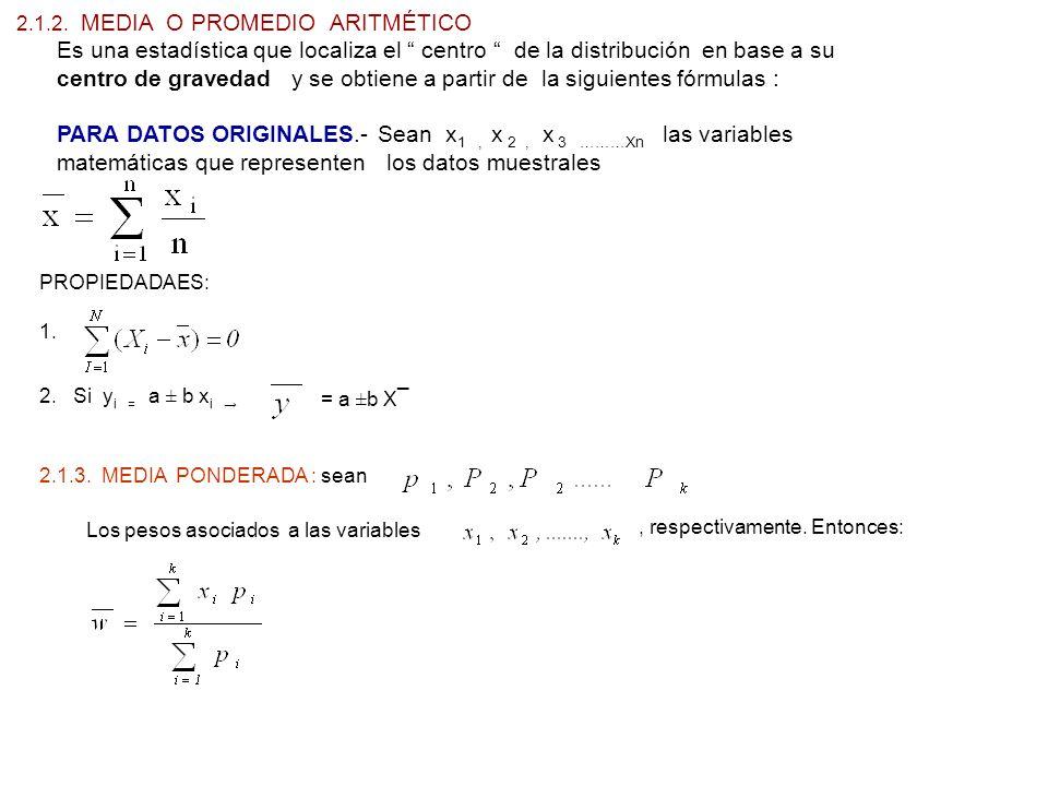 centro de gravedad y se obtiene a partir de la siguientes fórmulas :