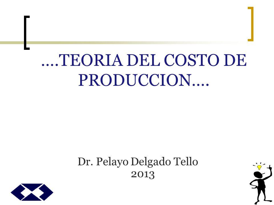 ….TEORIA DEL COSTO DE PRODUCCION….