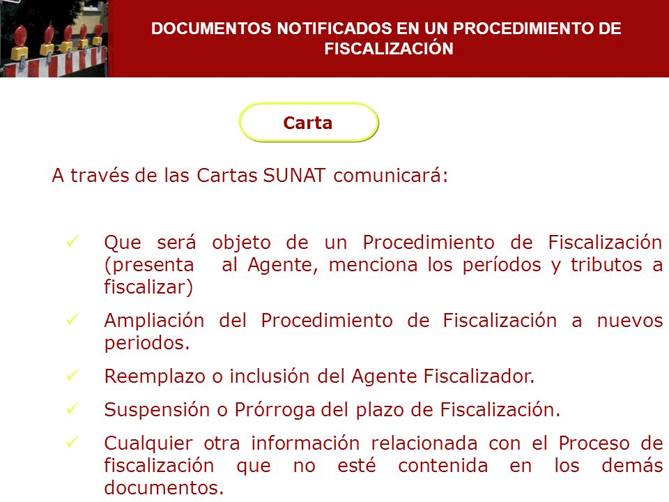 DOCUMENTOS NOTIFICADOS EN UN PROCEDIMIENTO DE