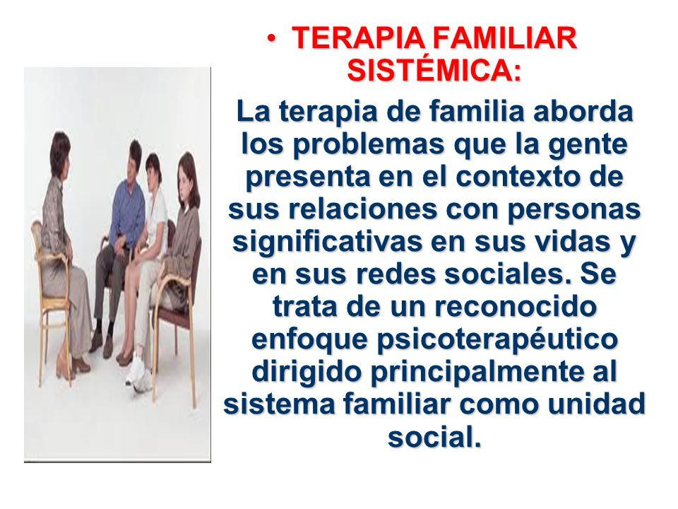 TERAPIA FAMILIAR SISTÉMICA: