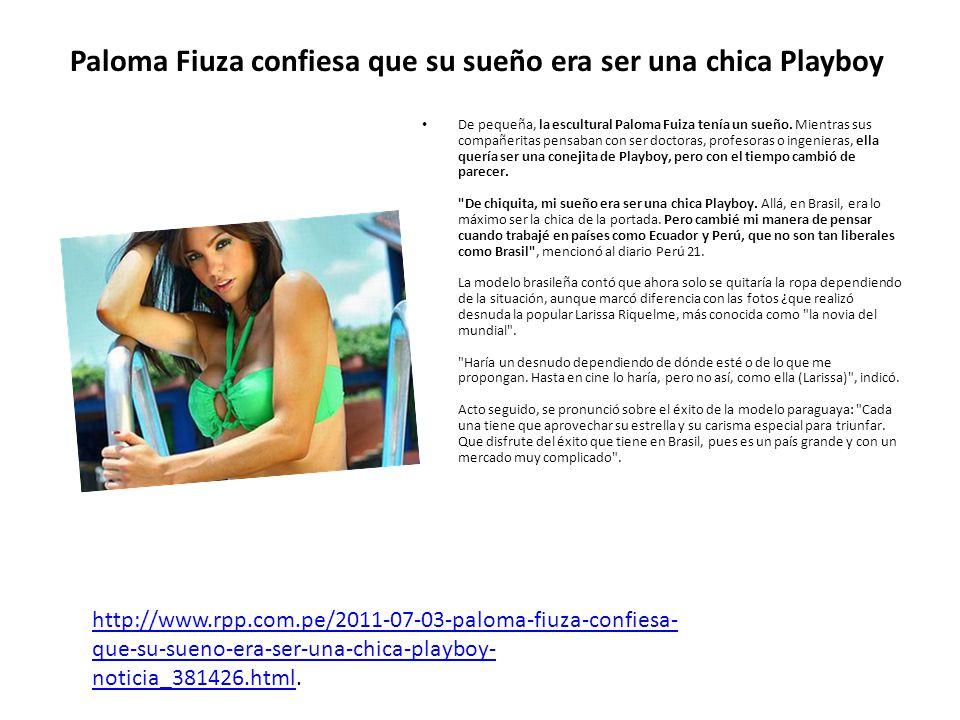Paloma Fiuza confiesa que su sueño era ser una chica Playboy