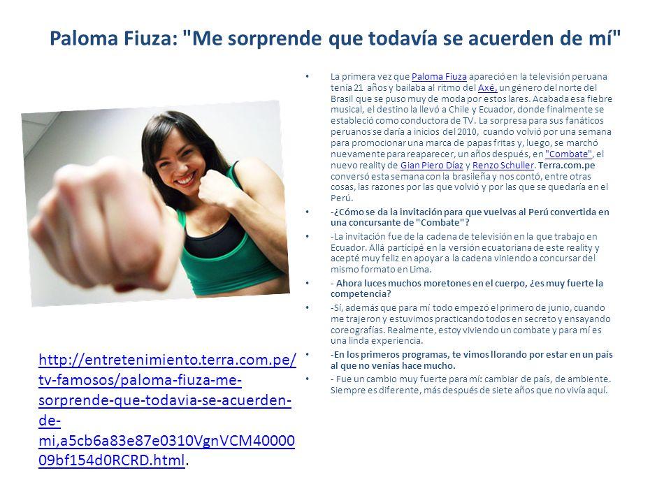 Paloma Fiuza: Me sorprende que todavía se acuerden de mí