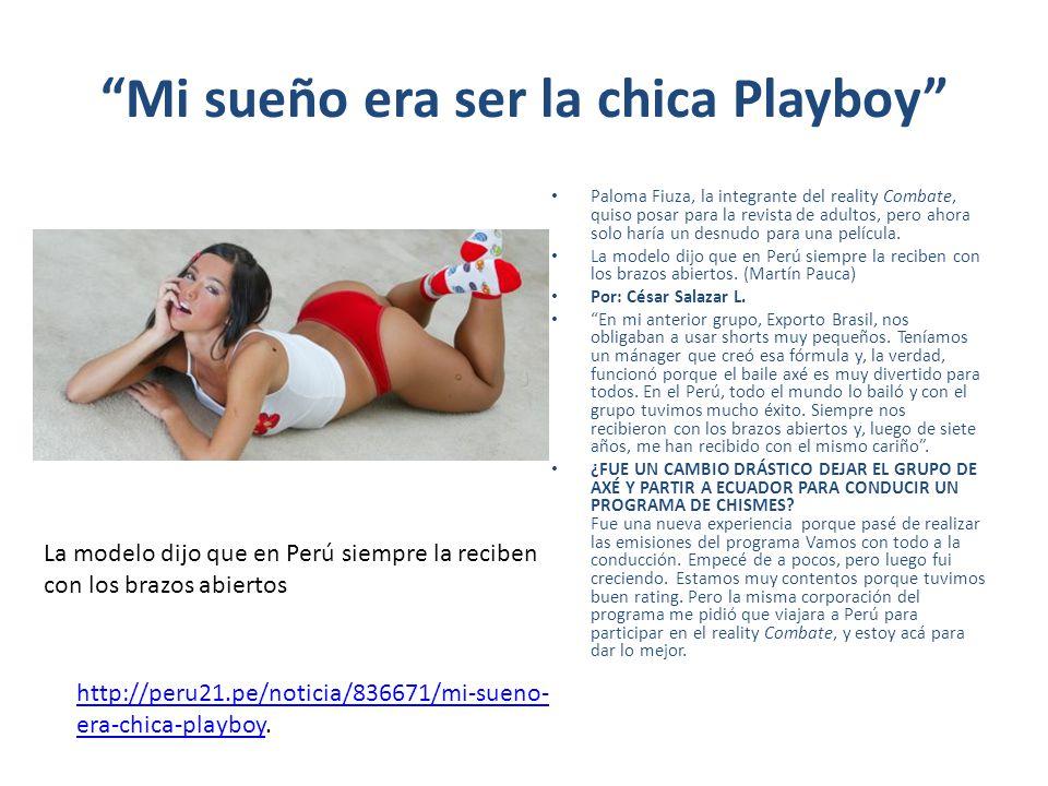 Mi sueño era ser la chica Playboy