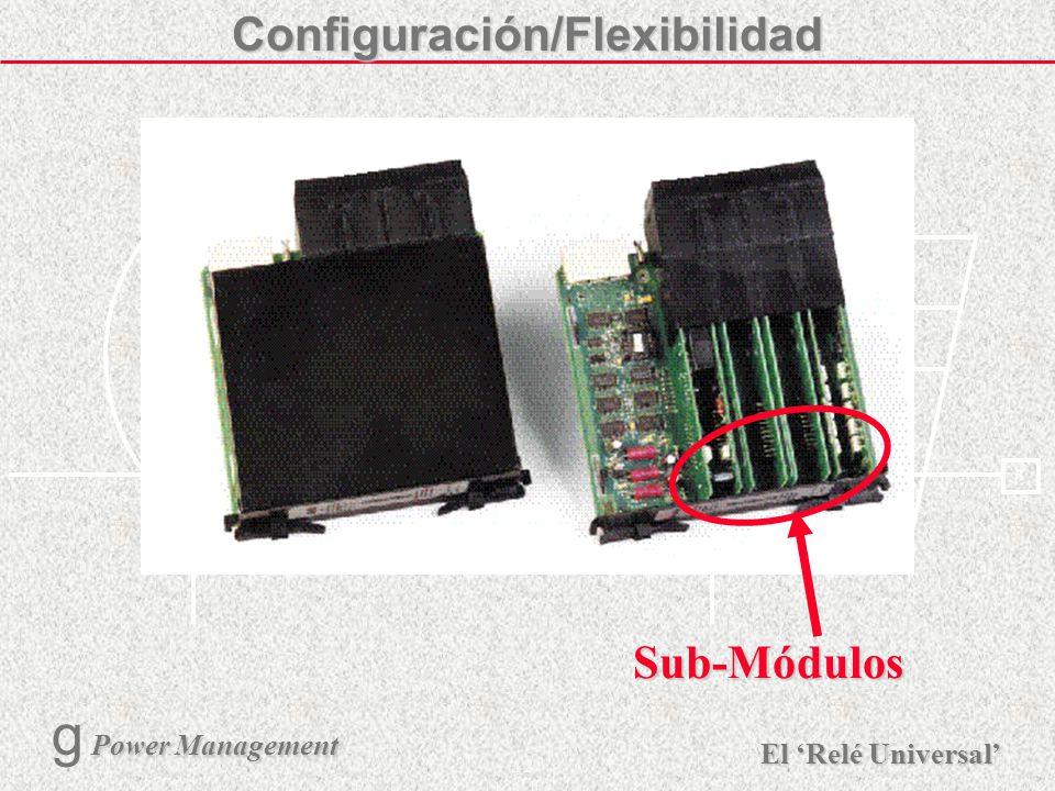 Configuración/Flexibilidad