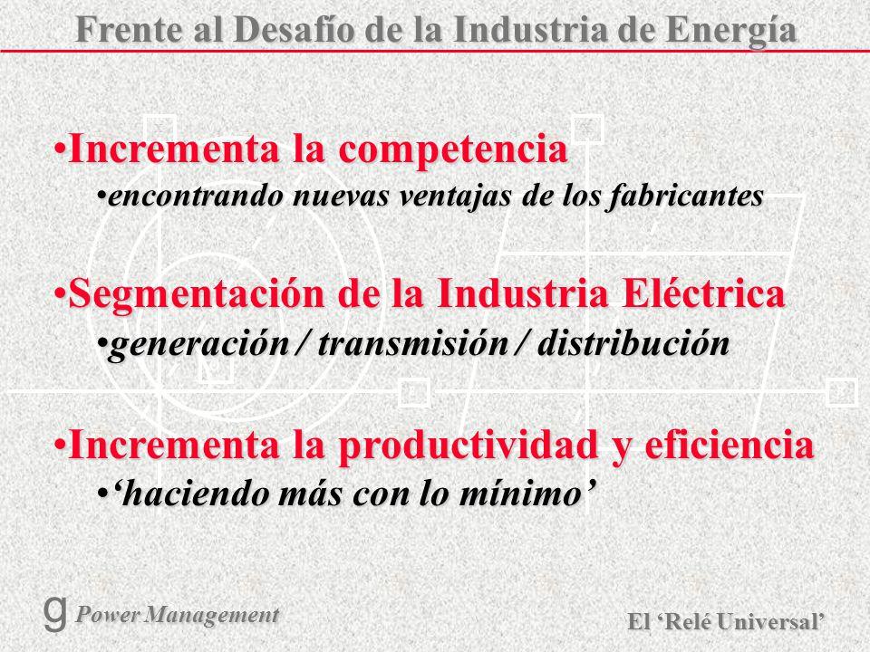 Frente al Desafío de la Industria de Energía
