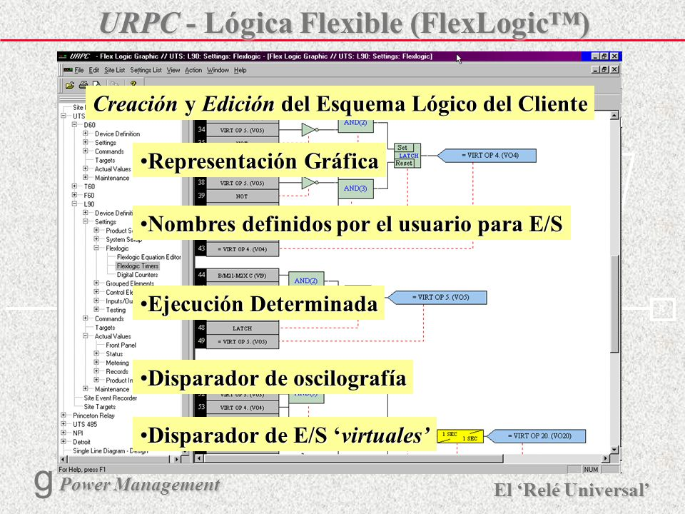 URPC - Lógica Flexible (FlexLogic™)