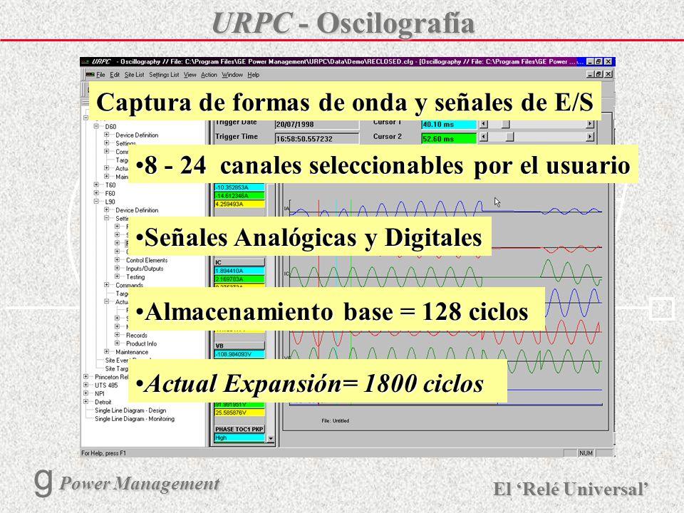 Captura de formas de onda y señales de E/S