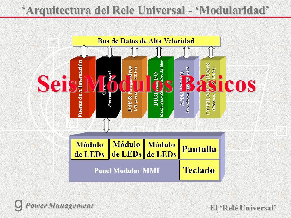 Seis Módulos Básicos 'Arquitectura del Rele Universal - 'Modularidad'