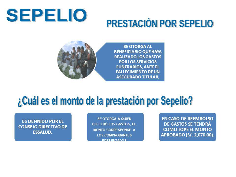 PRESTACIÓN POR SEPELIO ¿Cuál es el monto de la prestación por Sepelio