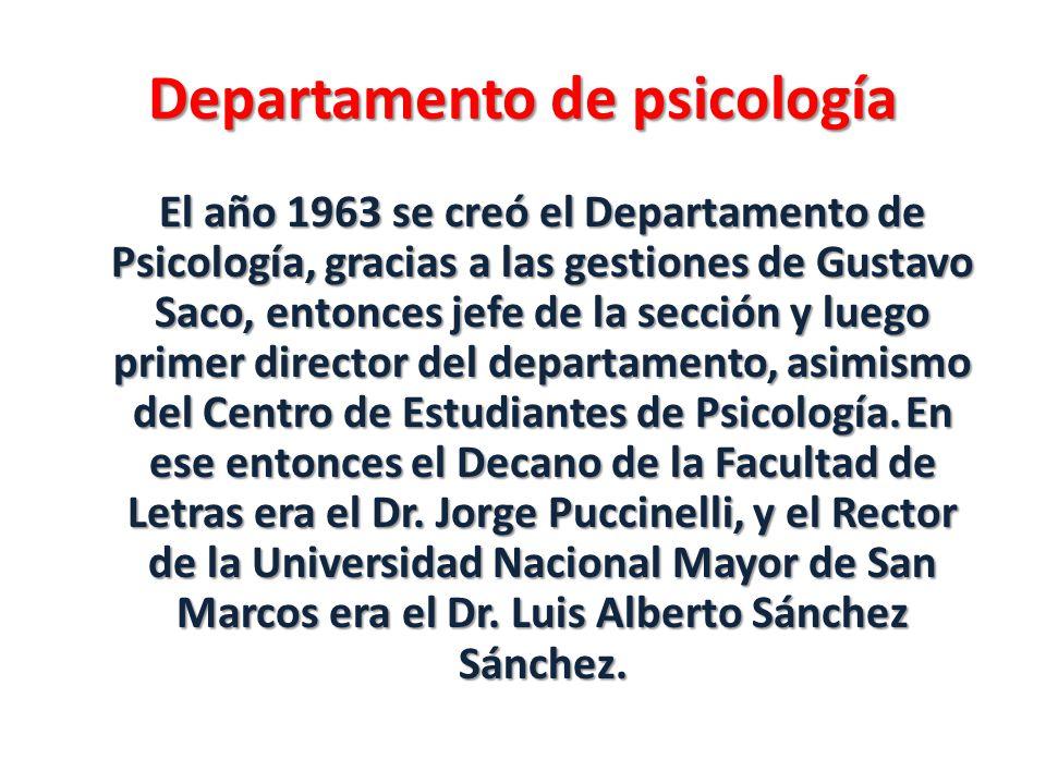 Departamento de psicología