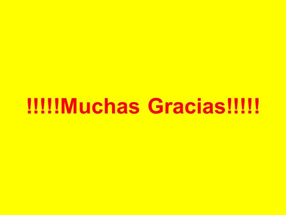 !!!!!Muchas Gracias!!!!!