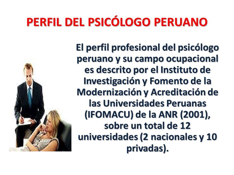 PERFIL DEL PSICÓLOGO PERUANO