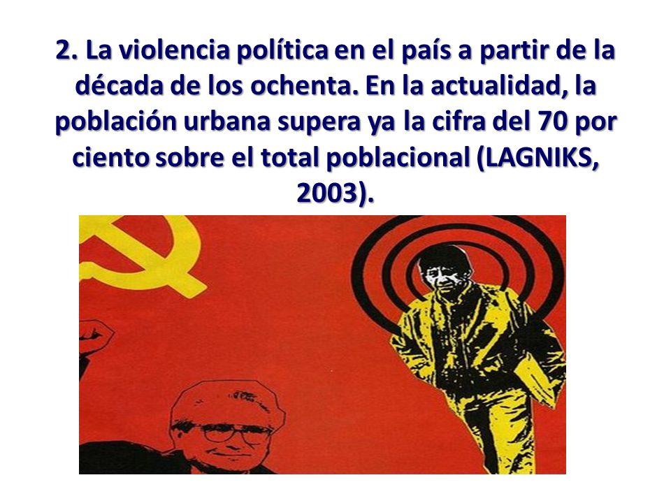 2. La violencia política en el país a partir de la década de los ochenta.