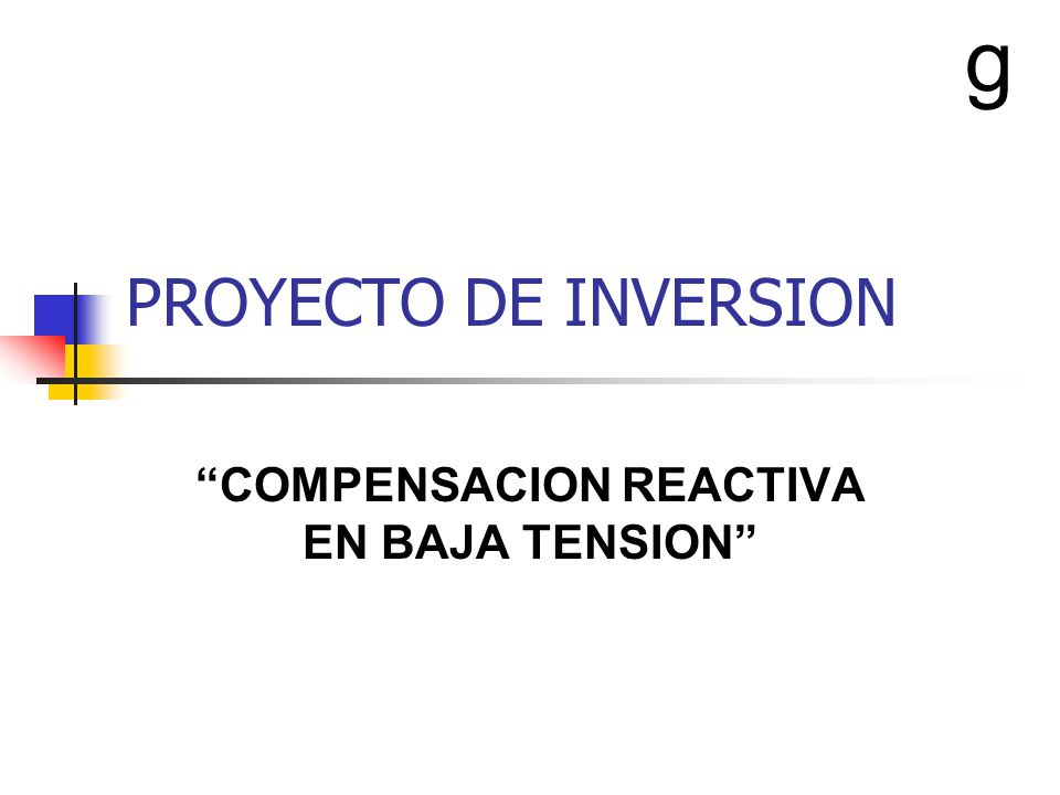 COMPENSACION REACTIVA EN BAJA TENSION