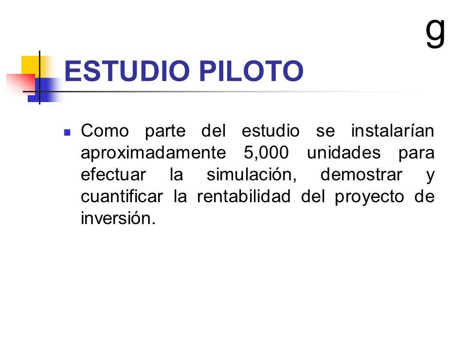 g ESTUDIO PILOTO.