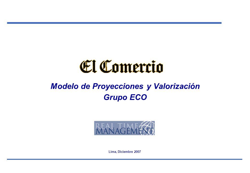 Modelo de Proyecciones y Valorización Grupo ECO
