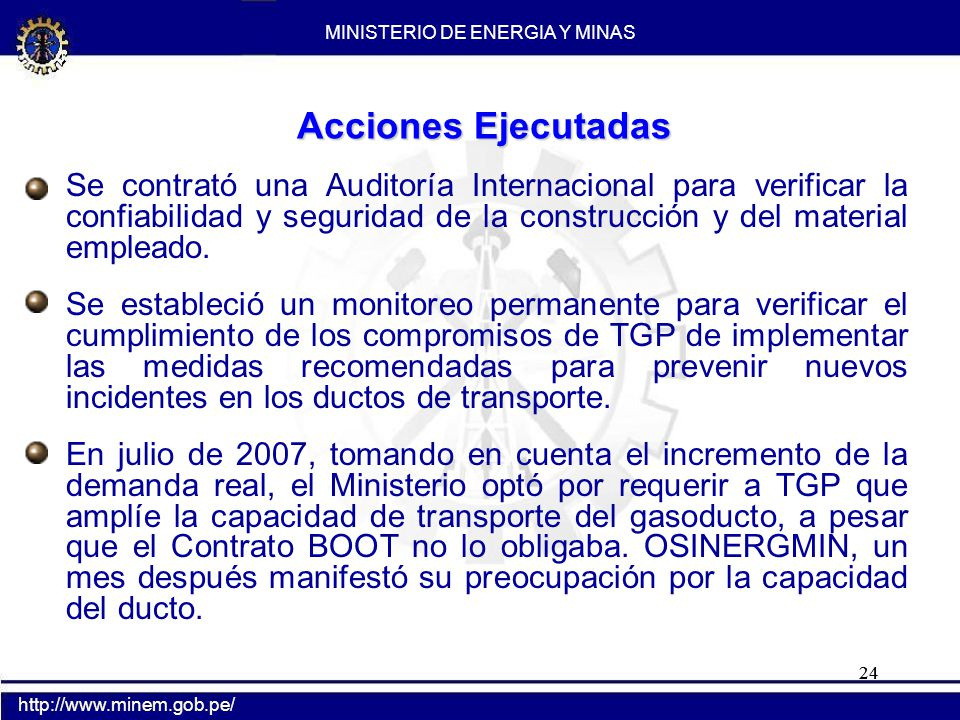 2004 2005 2007 2008 2006 MINISTERIO DE ENERGIA Y MINAS