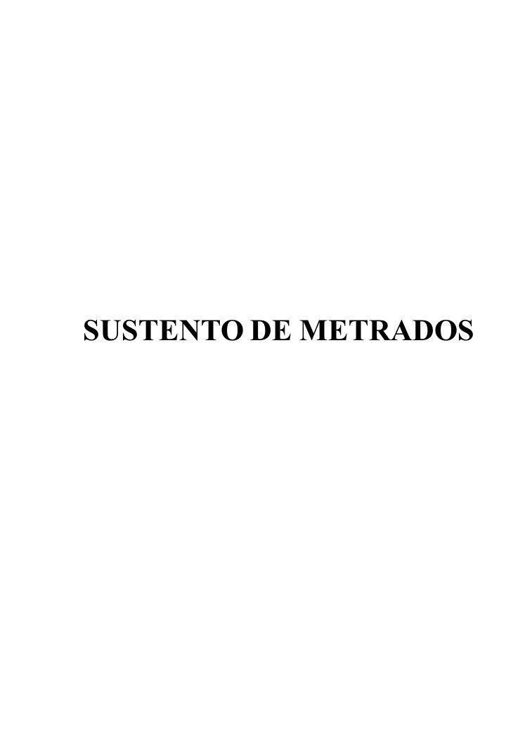 SUSTENTO DE METRADOS