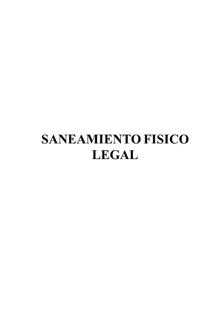 SANEAMIENTO FISICO LEGAL