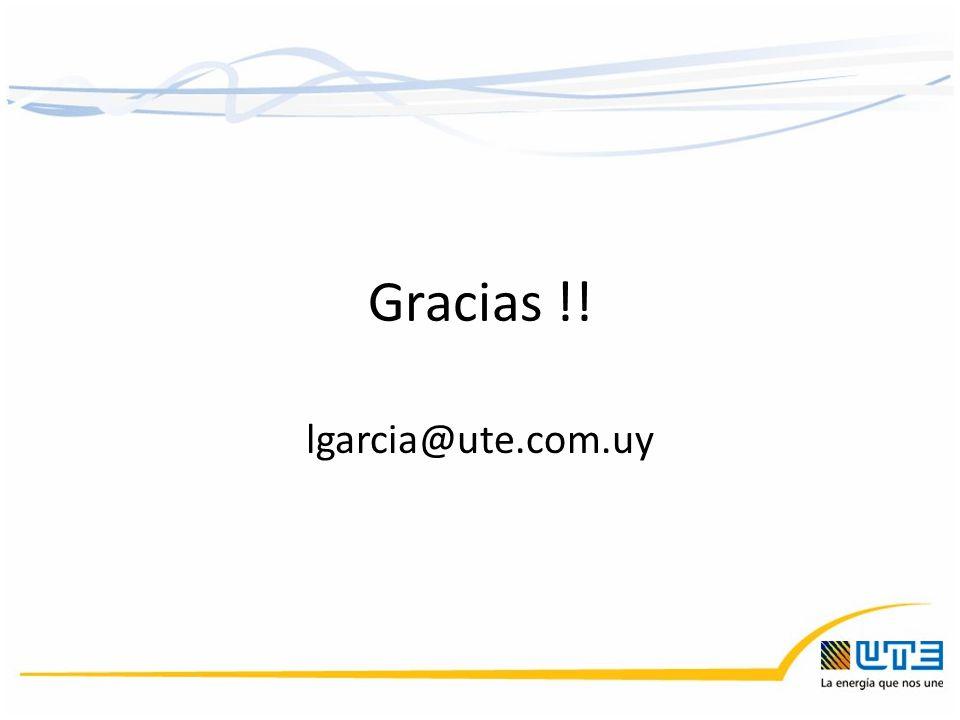 Gracias !! lgarcia@ute.com.uy
