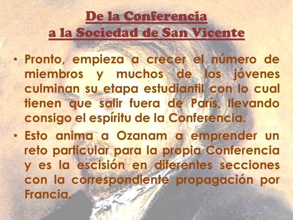 De la Conferencia a la Sociedad de San Vicente