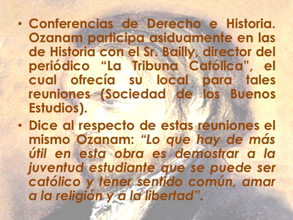Conferencias de Derecho e Historia