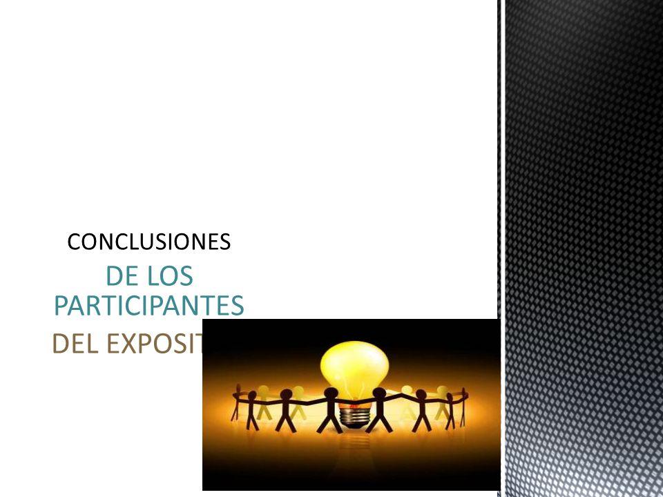 DE LOS PARTICIPANTES DEL EXPOSITOR CONCLUSIONES