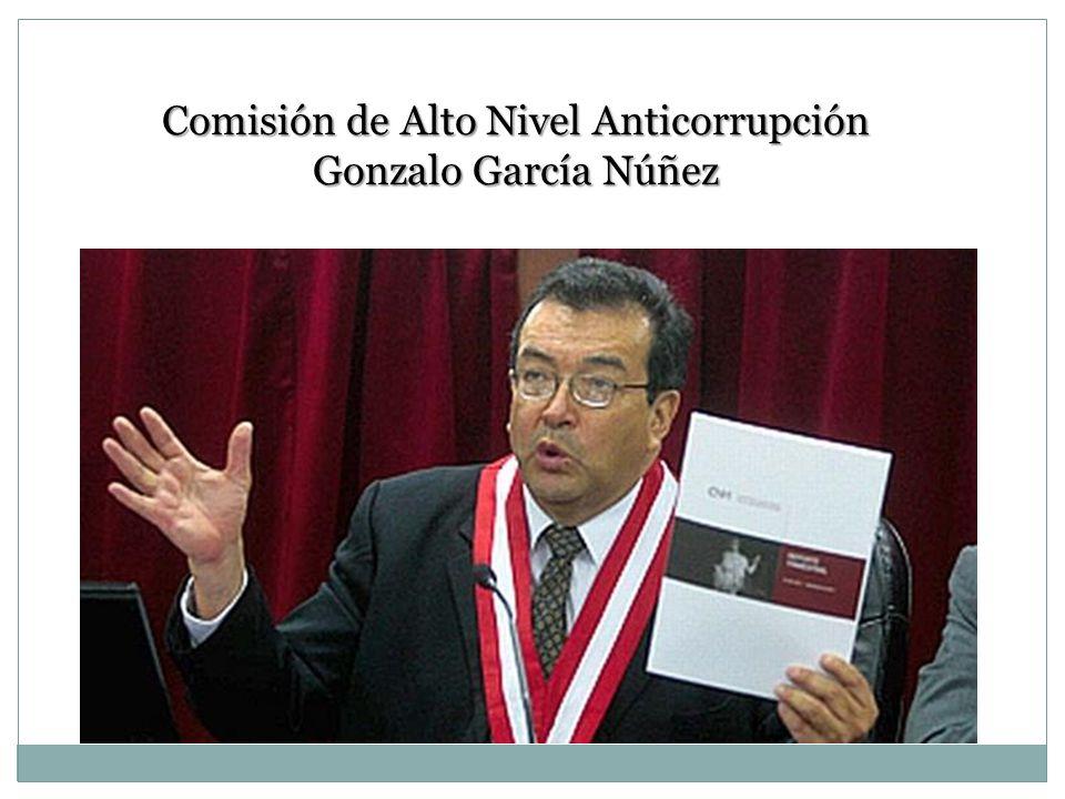 Comisión de Alto Nivel Anticorrupción Gonzalo García Núñez