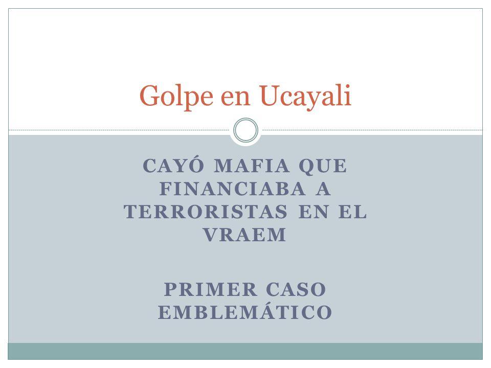 Golpe en Ucayali Cayó Mafia que Financiaba a terroristas en el Vraem
