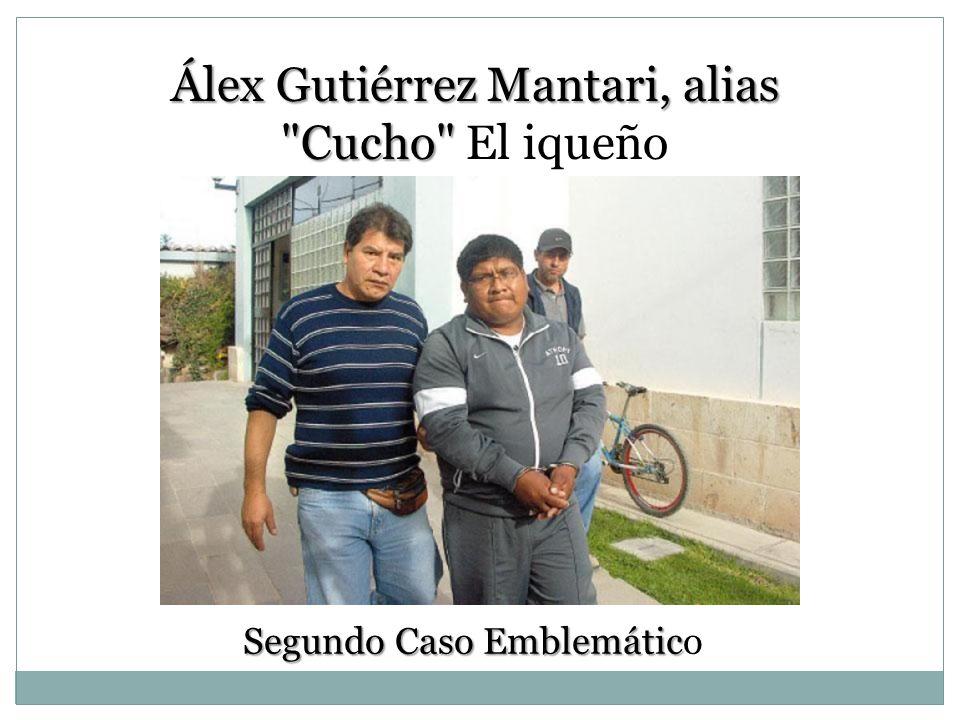 Álex Gutiérrez Mantari, alias Cucho El iqueño