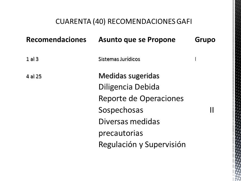 CUARENTA (40) RECOMENDACIONES GAFI