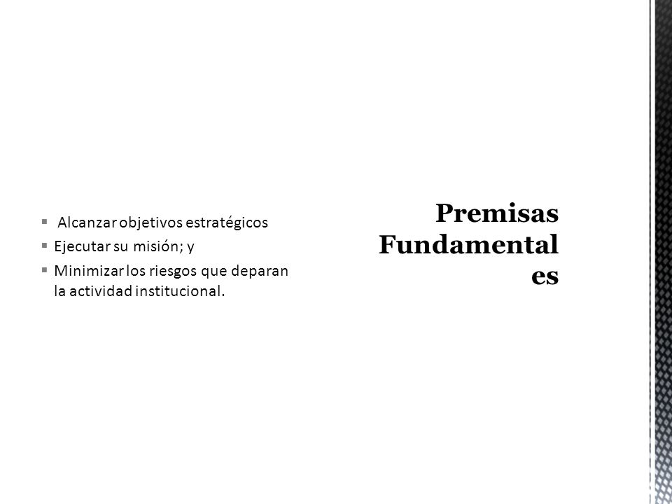 Premisas Fundamentales