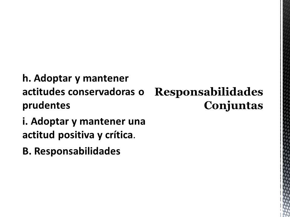 Responsabilidades Conjuntas