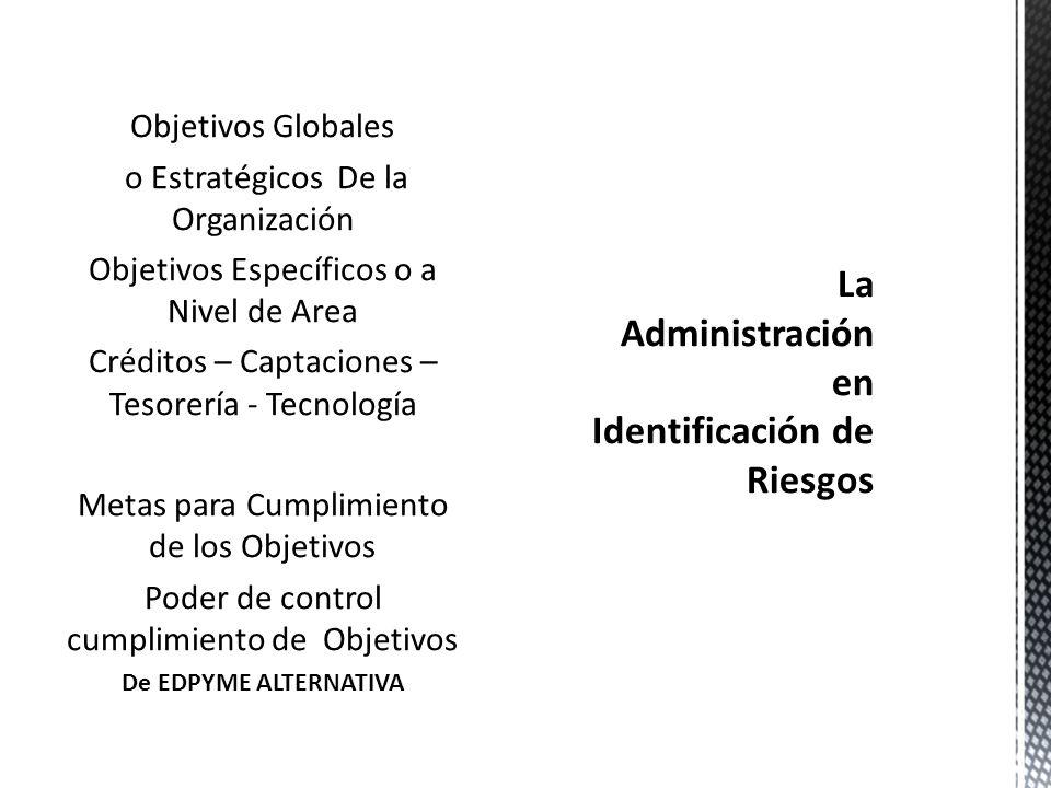 La Administración en Identificación de Riesgos