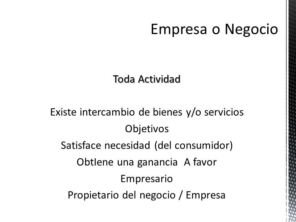 Empresa o Negocio