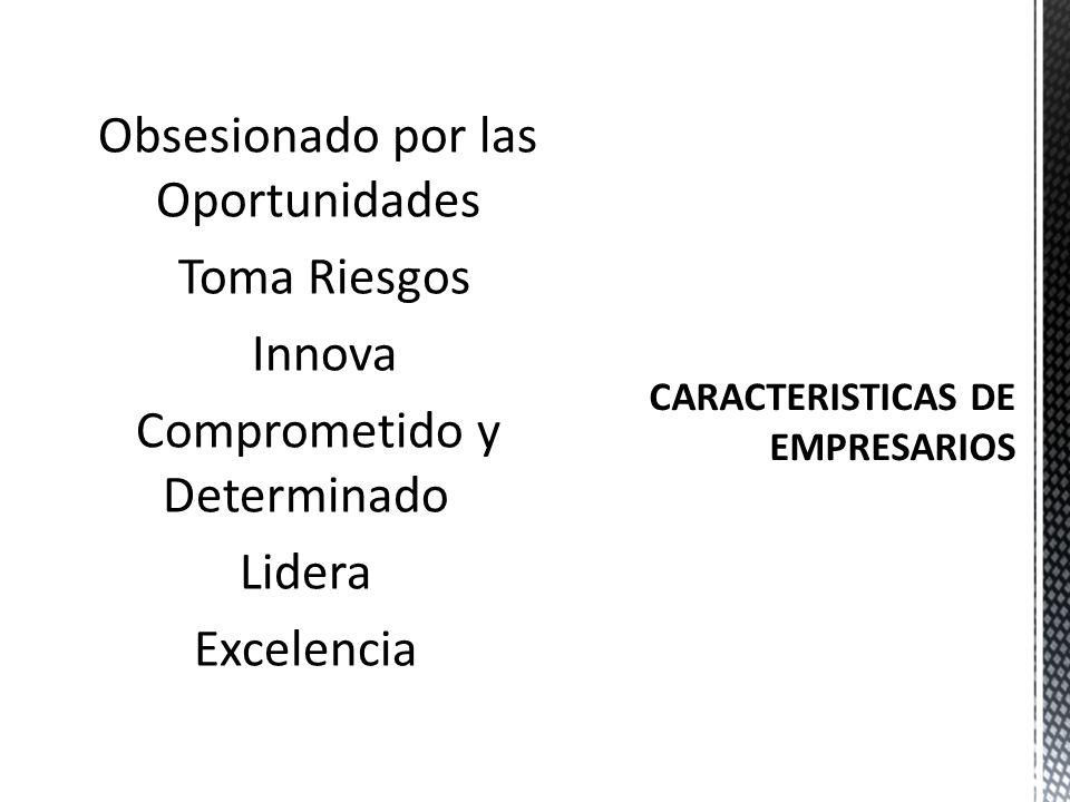 CARACTERISTICAS DE EMPRESARIOS